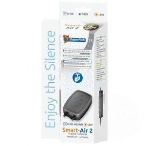Superfish-Smart-Air-2-Low-Noise-Aquarium-Fish-Tank-Air-Pump-0-50L-Two-Outlets