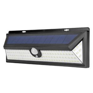 Outdoor-Solar-Licht-Bewegungssensor-Wandleuchte-Wasserdicht-Garten-Hof-Lampe-118led