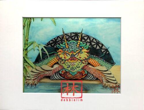 Feng Shui Original-Dragon-Head Turtle by Debbie Lim 11x14 Total Size*