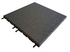 Grey Rubber Tiles 1 SQM - 500 x 500 x 30mm -Playground-Gymnasium-Interlocking