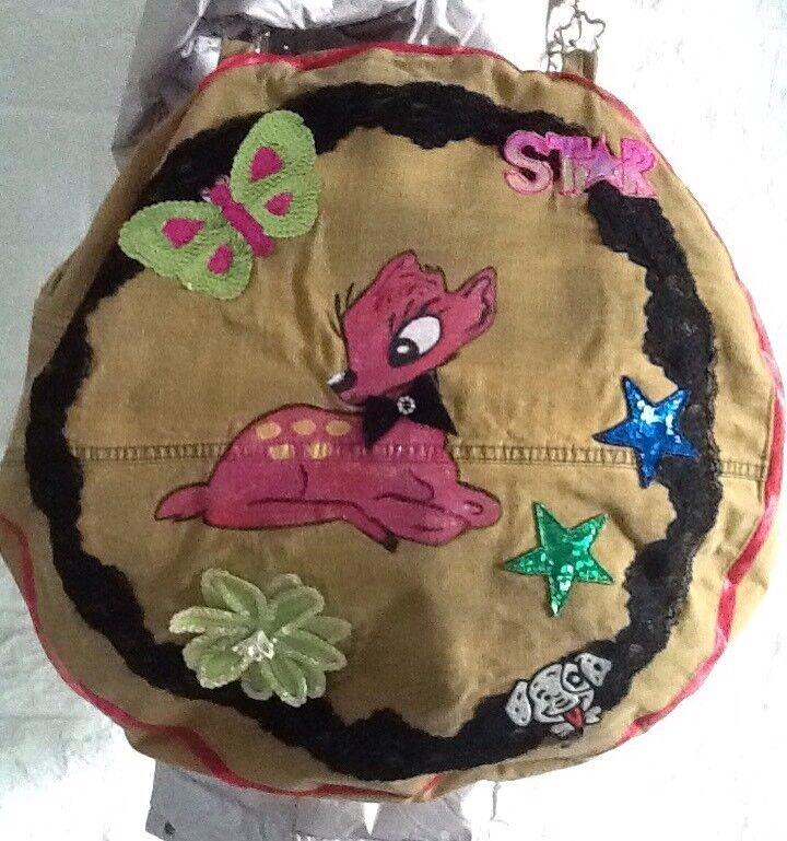 Jeanstasche XXL XXL XXL Designertasche Bambi Rund Jeans Braun     | Wunderbar  | Lebendige Form  | Treten Sie ein in die Welt der Spielzeuge und finden Sie eine Quelle des Glücks  70b18a