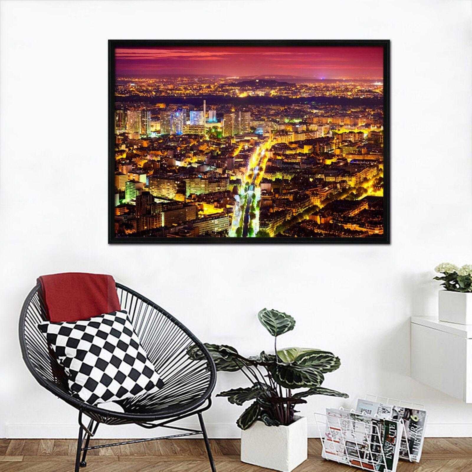 3D Bustling City 52 Framed Poster Home Decor Print Painting Art AJ WALLPAPER