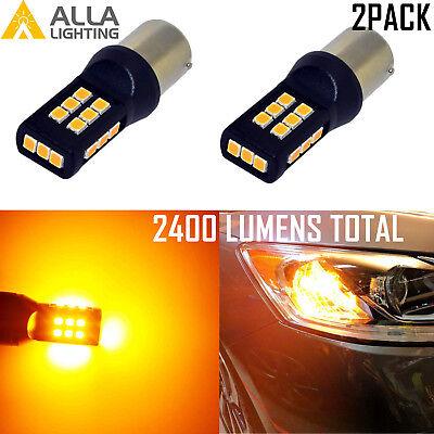 Alla Lighting 30-LED 1157 Turn Signal Light Bulb Blinker Lamp,Side Marker,Yellow