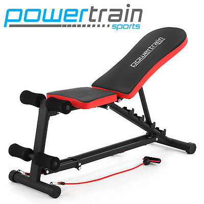 ADJUSTABLE HOME GYM BENCH PRESS SITUP ABS EXERCISE INCLINE DECLINE WEIGHT FID