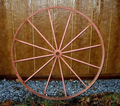 Antique 36 Iron Wagon Tractor Wheel 12 Spoke Home Or Yard Art Ebay