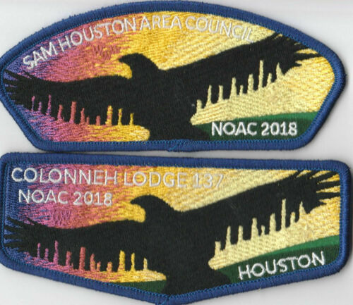 SAP Set Sam Houston Area Council GNY389 2018 NOAC OA Lodge 137 Colonneh Flap
