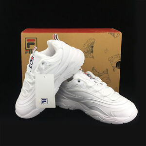 0b225ebe Details about New FILA Womens RAY FS1SIA1160X WHITE UNISEX SIZE FILA RAY  HERITAGE TAKSE