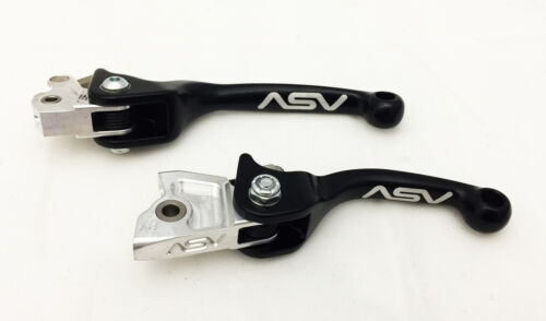 ASV F3 Black Unbreakable Folding Brake Clutch Levers KTM SXF SX-F