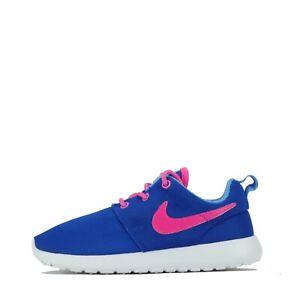 Espectador Espesar Lo siento  Nike Roshe Run Kids Children Toddler's Infant Trainers Shoes Blue Pink |  eBay