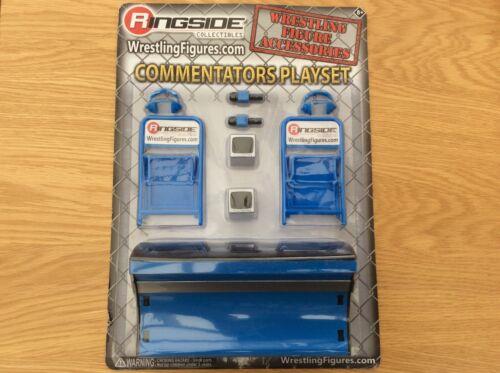 Wwe announcers commentators breakable table wrestling figure accessories tna