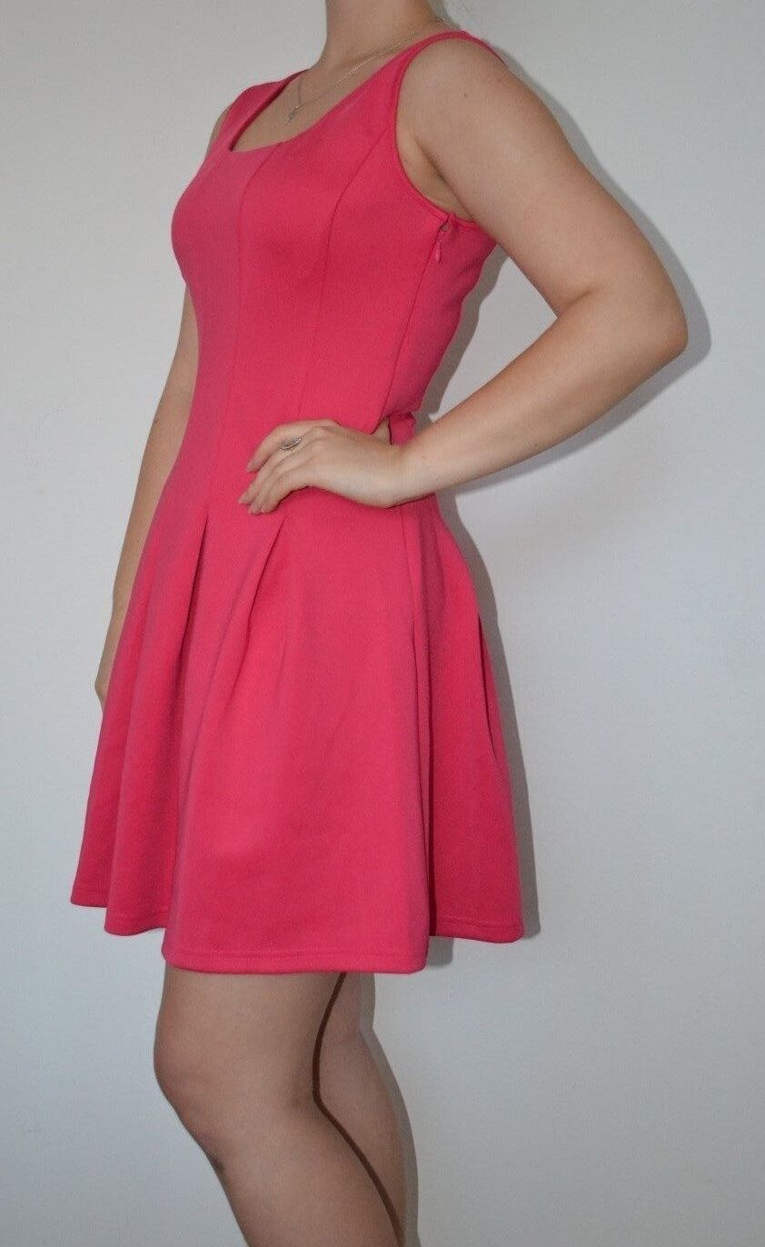 Boston Proper Scuba fit-and-flare dress Pink Size 8 (S) ( 98)