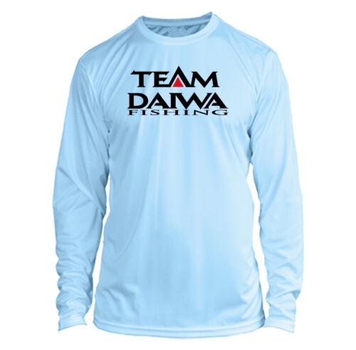 Daiwa Long Sleeve Microfiber UPF Fishing Shirt Arctic Blue