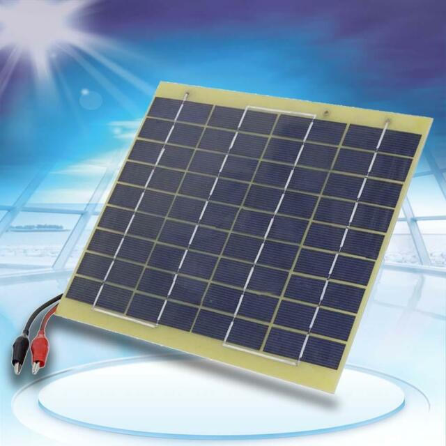 1.5/5W 12V Solar Panel DIY Powered Models Small Cell Module Epoxy Charger @DH