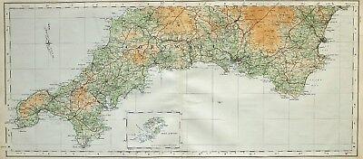 1906 Atlas Penzance /& St Antique Map Ives