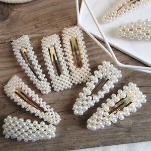 Charm-Women-Pearl-Hair-Clip-Handcraft-Barrettes-Hairpin-Hair-Accessories