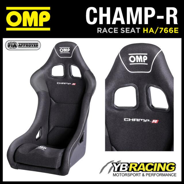 "HA/766E OMP ""CHAMP-R"" RACE SEAT GEL COATED FIBREGLASS RACE RALLY VELOUR BLACK"