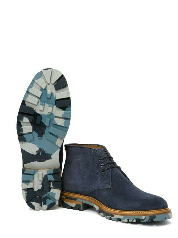 Aquatalia Jeffrey Suede Chukka Boot, Navy bluee, 12M US ( 595) Made in
