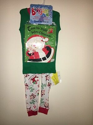 TWAS The Night Before Christmas Baby Pajamas and Book Set 4T Toddler