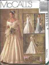 McCalls 6951 Alicyn Misses off Shoulder Bridal Wedding Gown Dress ...