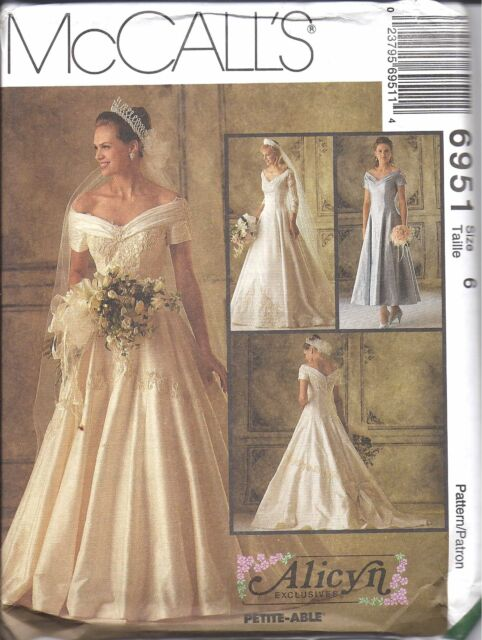 McCalls 40 Alicyn Misses Off Shoulder Bridal Wedding Gown Dress Enchanting Wedding Gown Patterns