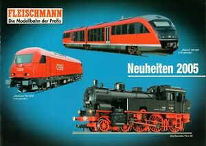 CompéTent Fleischmann-nouveautés 2005-catalogue Brochure Modèle Ferroviaire-b17617-n - B17617 Fr-fr Afficher Le Titre D'origine