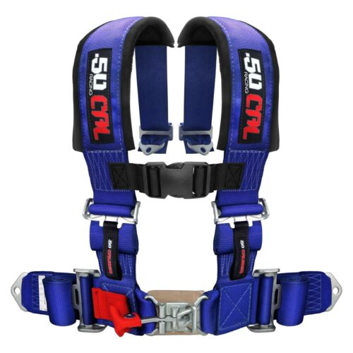 2 Inch 4 Point Harness Seat Belt RZR 900 Jeep Truck Blue Crawl Rhino Sand Rail