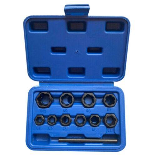 11Pcs Damaged Lug Nut and Lock Remover Twist Socket Set Screw Extractor U6I2