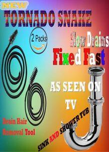 Tornado Sink Snake 2 Pcs Pack As Seen On Tv Ebay