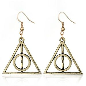 Harry-Potter-Bronze-Deathly-Hallows-Earrings
