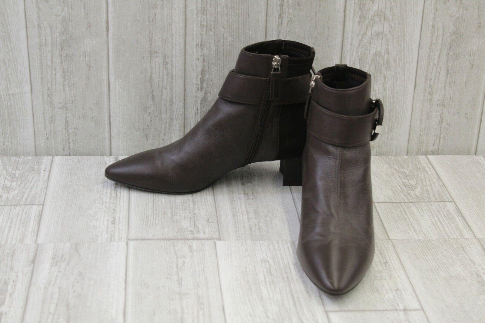 la migliore moda Aquatalia Phiona Polished Leather Pointed Toe stivali, Donna    11M, Espresso NEW  punto vendita