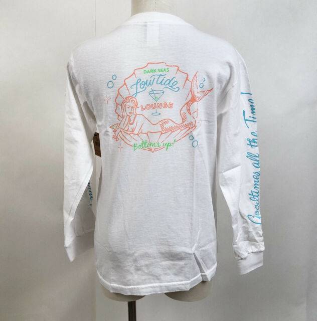 Dark Seas Women/'s LS T-Shirt Bottoms Up Stow Away White Size S NWT Mermaid