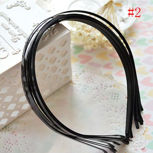 10pcs Silver  Alice Metal Headband 5mm Plain Tiara Base Hair Accessories Gifts