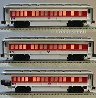 Lionel Philadelphia Phillies (3) Passenger Cars Mlb Coachs Observation 7-12004-c