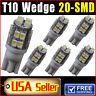 6 PCS T10 20-SMD LED Xenon White 12V Wedge Car Light bulbs W5W 168 194 2825