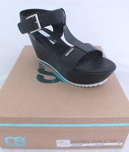 compenses noir Cassis Cote dAzur Auxane sandales women shoes neuf 84
