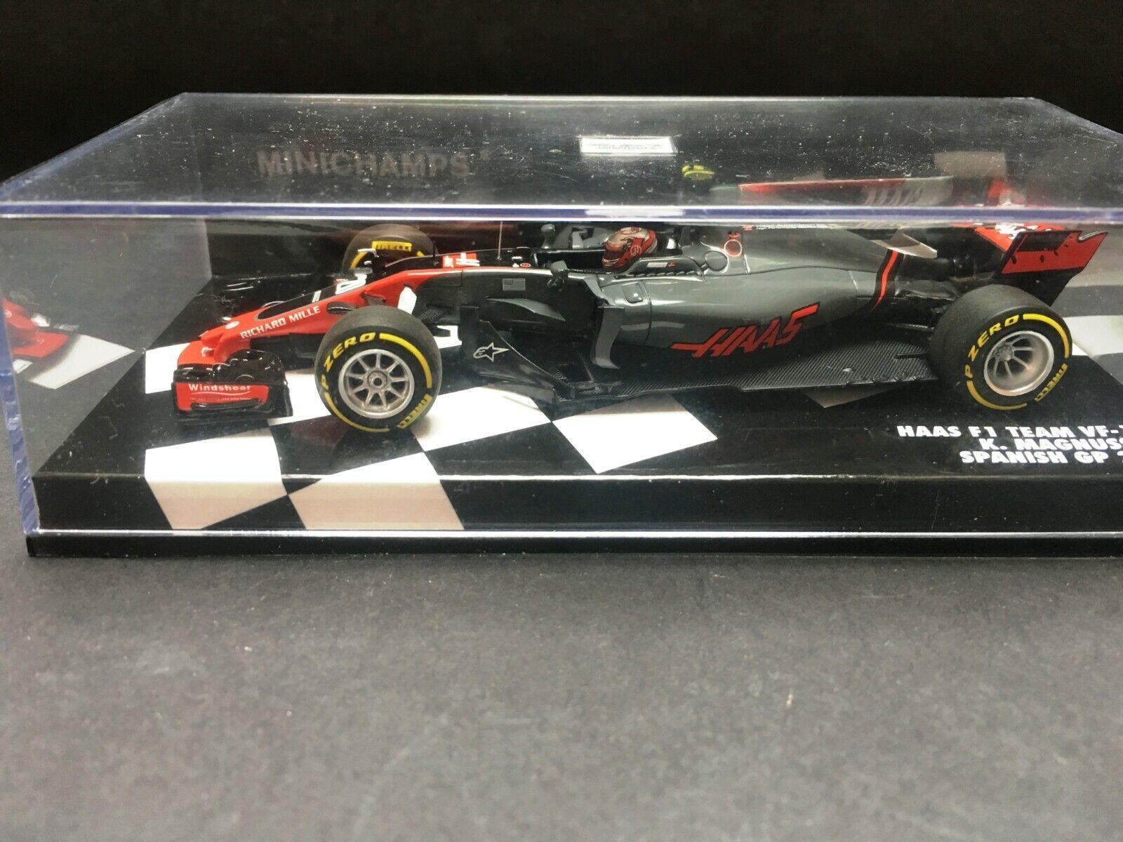 Minichamps - Kevin Magnussen - Haas - VF-17 - 1 43 - 2017 - Spanish GP - Rare