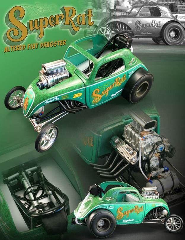 verde SUPER RAT FIAT ALTErosso ACME 1 18 SCALE DIECAST METAL MODEL DRAG CAR