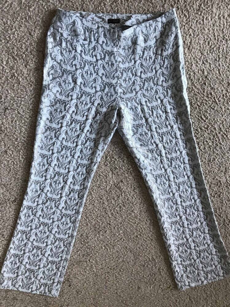 DIVINE Womens Designer CARLA ZAMPATTI Print Formal Pants Trousers Size 8 AMAZING