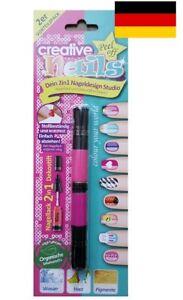 Creative-Nails-Peel-off-Nail-Art-Pen-Nagellack-und-Dekospitze-rosa-pink