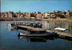 SYRIEN-Syria-Postcard-1970-80-TARTOUS-Port-Hafen-Ansichtskarte-ungelaufen-AK