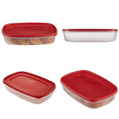 Rubbermaid Easy Find Lids Food Storage Container, 1.5 Gallon, Racer Red 1 |  eBay