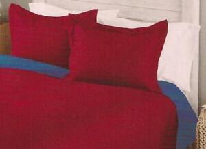 BURGUNDY Pillow Shams STANDARD Size NEW 2 Pack
