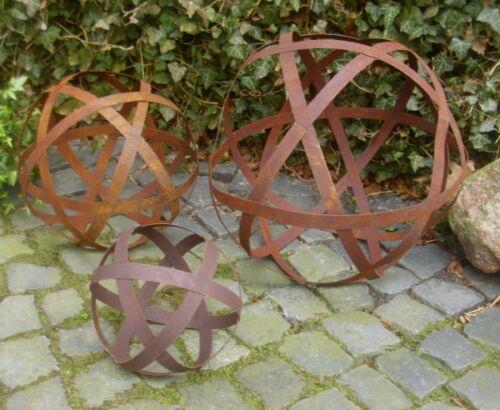 3 Dimension Boule Décorative Edelrost Bandes Métalliques Décoration de Jardin