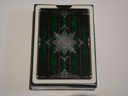 PLAYING CARDS MAGIC TRICKS INVISIBLE ARTIFICE EMERALD GREEN BICYCLE DECK 2ND ED
