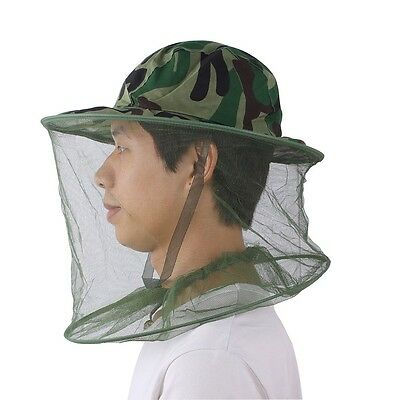 New Jungle Field Camouflage Mesh Insect Mosquito Bee Bug Fishing Face Mask Hat