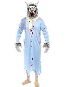 prima i clienti le migliori scarpe più recente Dettagli su COSTUME LUPO CATTIVO Bad Wolf Carnevale Halloween Cappuccetto  rosso Nonna