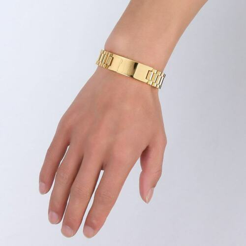 Gold Medical Alert ID Hommes Mâle Biker Bracelet Gourmette personnalisé gravure gratuite
