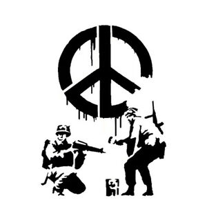 Banksy Cnd Soldiers Stencil Home Decor Art Replica Graffiti Ideal