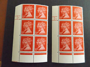 GB MNH Double Head 1d Black Anniv Cylinders SG 1474 37p Rosine Cyl 1 dot+no