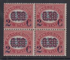 1878 - c.2 su 0,30,  blocco di 4, cert. Avi, gomma integra - lotto 282